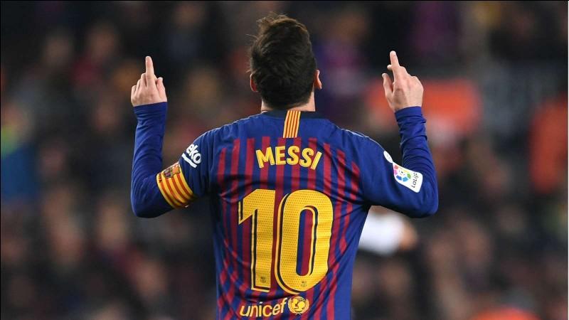 Quel est le salaire annuel de Lionel Messi ?