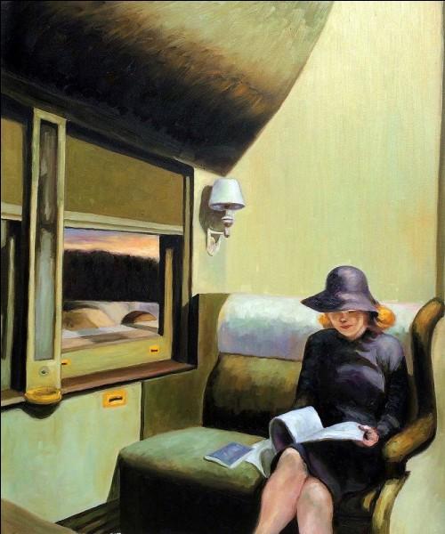 """Quel peintre américain a peint le tableau """"Compartiment C Voiture 293"""" ?"""
