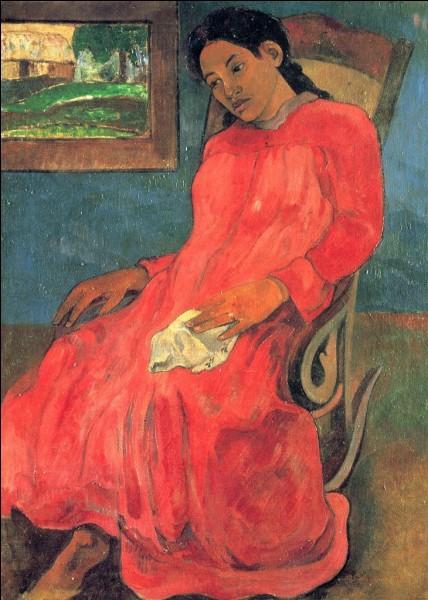 """""""Femme en robe rouge"""" est l'œuvre de ..."""