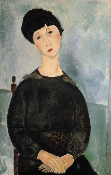 """Quel peintre est l'auteur du tableau """"Jeune fille brune assise"""" ?"""