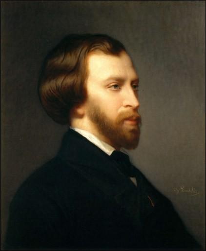 Nous apercevons ici un portrait de l'écrivain et poète romantique … de Musset.