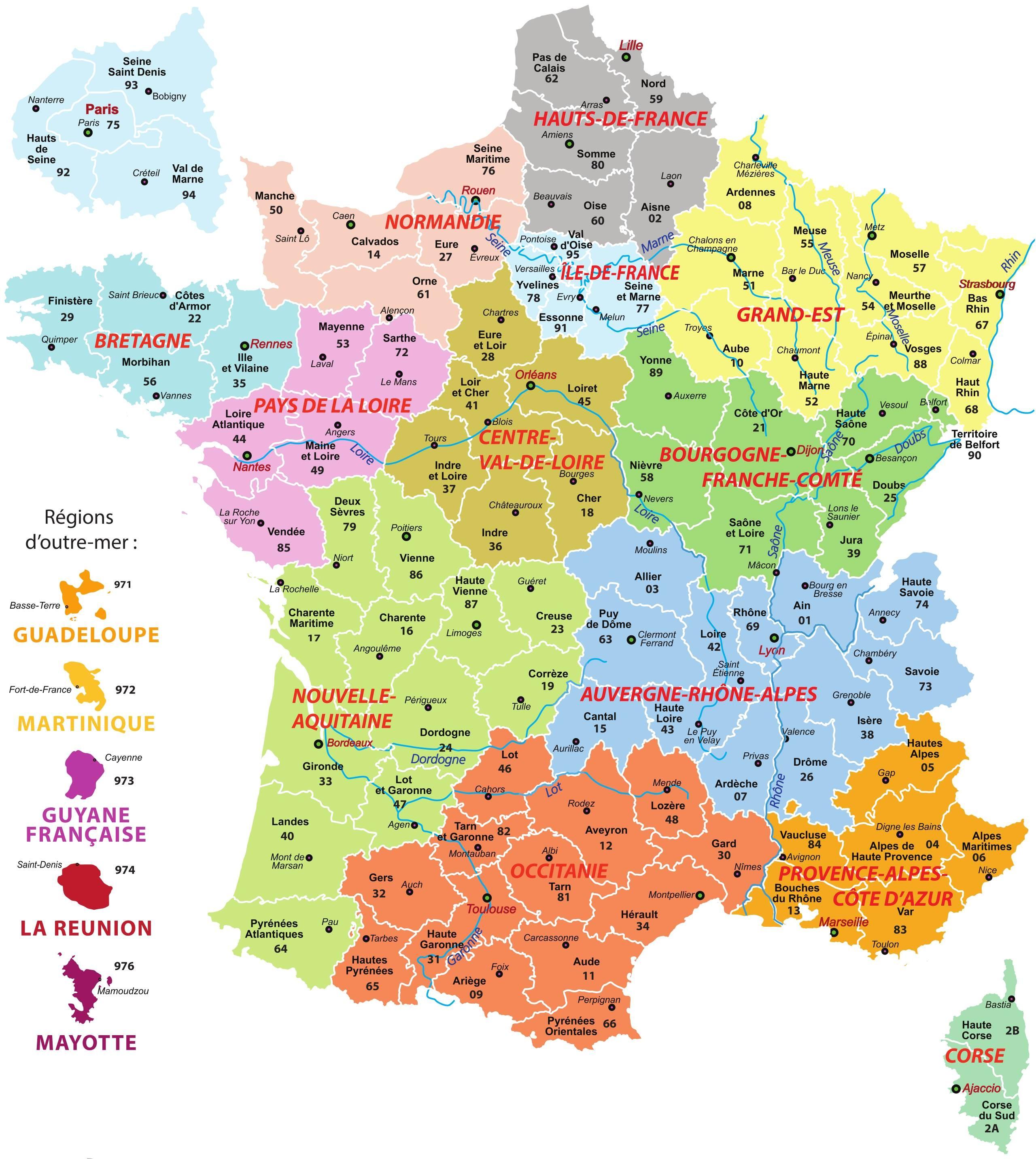 Les préfectures des départements français 1