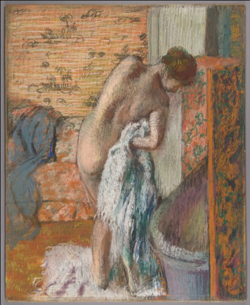 """Qui a peint """"Après le bain, femme s'essuyant"""" ?"""