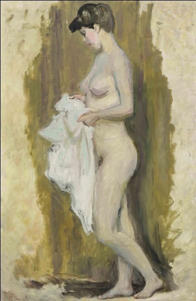 """À qui appartient ce tableau intitulé """"Nu debout à la serviette"""" ?"""