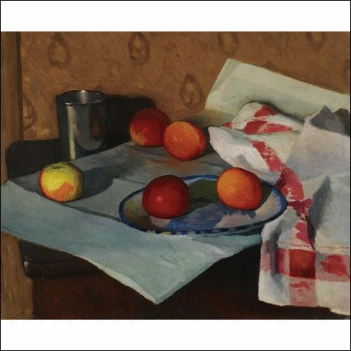 """Qui a peint """"Nature morte à la serviette bordée de rouge"""" ?"""