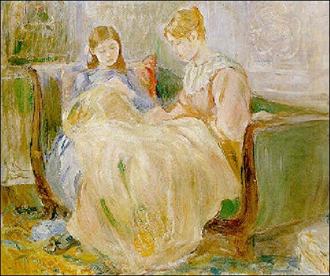 """Qui a peint la toile intitulée """"La Broderie"""" ?"""