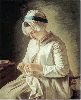 """Qui est le peintre de """"La Tricoteuse"""" ?"""