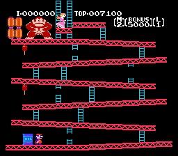 """Dans sa première version borne d'arcade de 1981 """"Donkey Kong"""", le grand gorille balançait des tonneaux sur Mario.Mais à l'époque Mario ne s'appelait pas encore Mario et il n'était même pas plombier mais charpentier.Alors comment s'appelait il ?"""