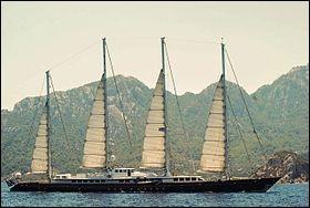 """Construit en 1976 pour A. Colas, le """"Club Méditerranée"""", voilier de 72 m de long, équipé de 4 mâts de 30 m de haut portant 1000m² de voilure, avait une particularité. Laquelle ?"""