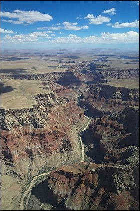 """Le """"grand Canyon"""" est situé..."""