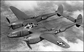 Cet appareil, apparu en 1937, a été le premier intercepteur bimoteur de l'USA Air Corps ; il fut également le premier chasseur doté d'un fuselage à double poutre à avoir passé les 10 000 exemplaires produits. Quel est son nom?