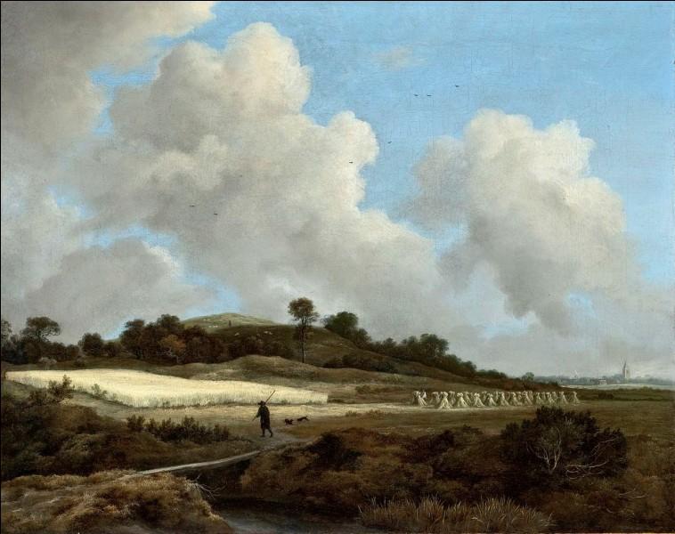 """Quel paysagiste hollandais du XVIIe a peint le tableau """"Vue de champs de blé et ville lointaine"""" ?"""