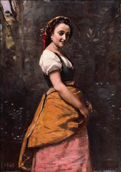 """""""Jeune femme dans les bois"""" est l'œuvre de ..."""