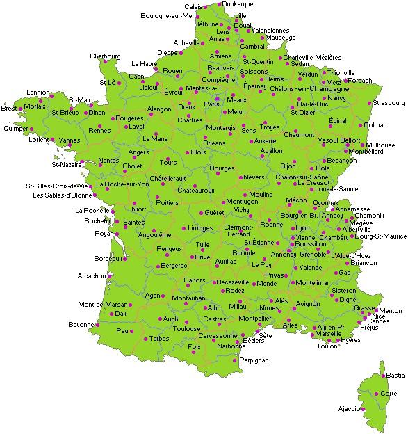 Un petit tour des villes françaises !