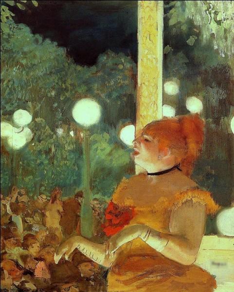 """Quel peintre est l'auteur du tableau """"Au Café-concert : La Chanson du chien"""" ?"""