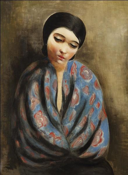 """Qui a réalisé le tableau """"Jeune femme au châle bleu"""" ?"""