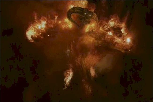 Espèce : Balrog Famille : Ancien esprit servant les ValarDescription : Créatures humanoïdes de grande taille, capables de s'envelopper dans les flammes À savoir : A combattu avec Gandalf pendant 7 jours Quel est ce personnage ?