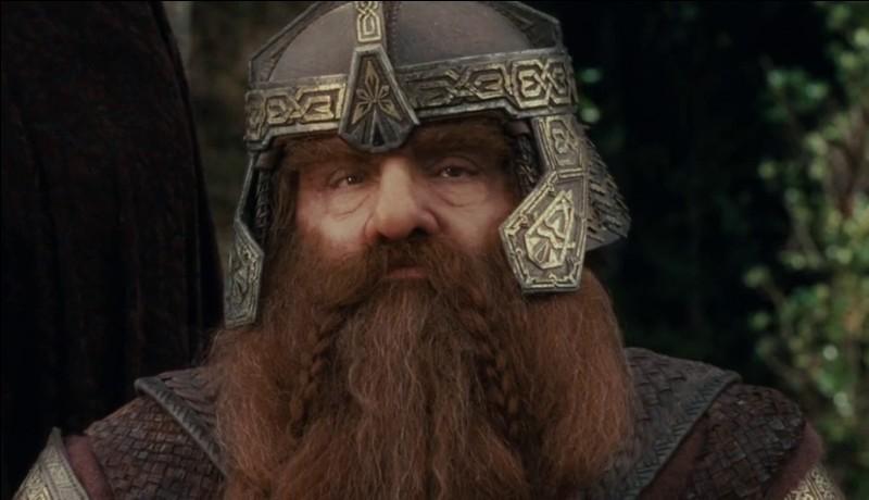 Espèce : Nain Famille : Fils de GlóinDescription : Petit, costaud et barbu À savoir : Après la guerre de l'Anneau, il part avec Legolas pour Tol Eressëa Quel est ce personnage ?