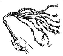 Quel est le nom de ce fouet à 9 lanières de cuir, instrument disciplinaire et instrument de jeu érotique ?