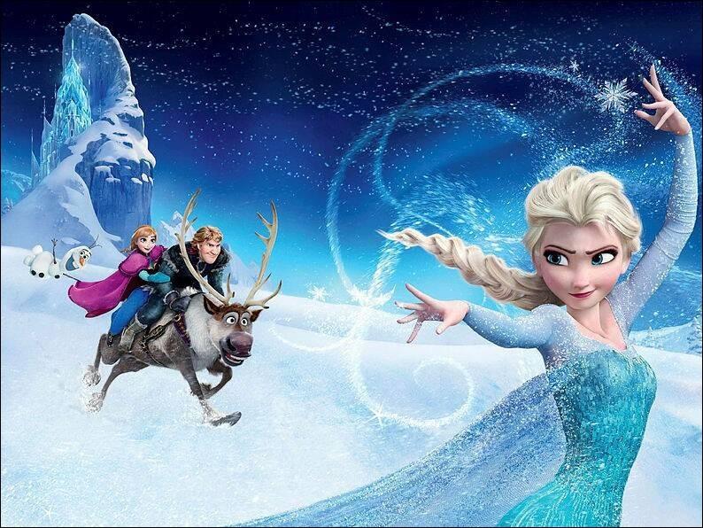 """Une application développée par Disney pour """"La Reine des neiges"""" est :"""