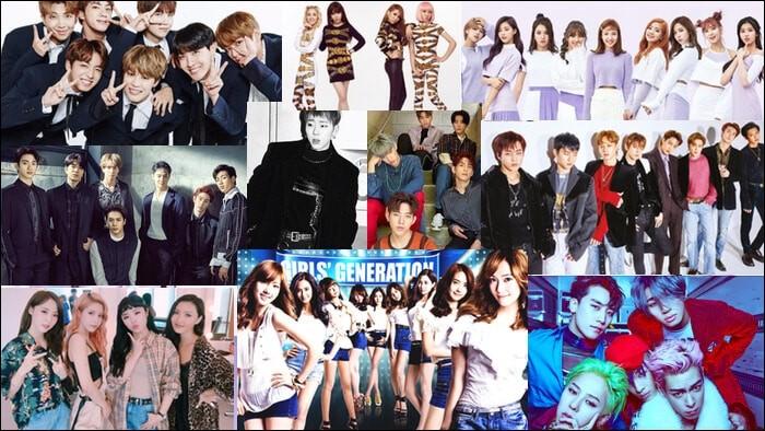 En K-pop, il n'y a que des Coréens qui chantent.