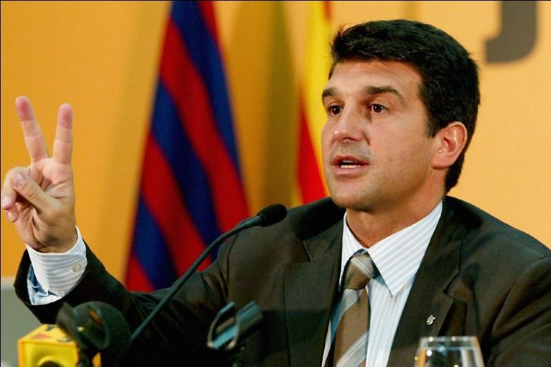 Pendant combien d'années Joan Laporta est-il resté président du FC Barcelone ?