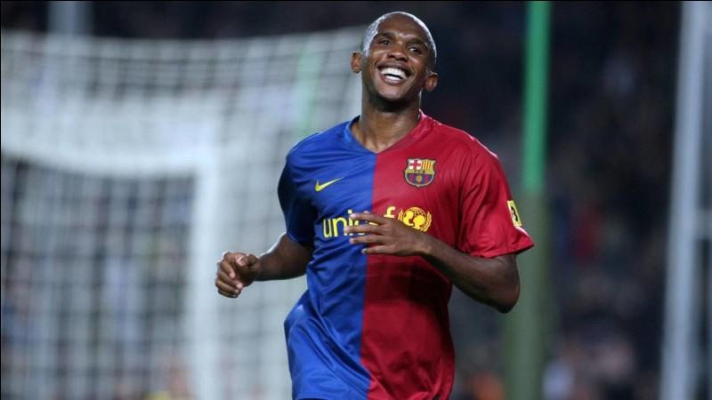 Pour combien Samuel Eto'o a-t-il été recruté par le FC Barcelone ?