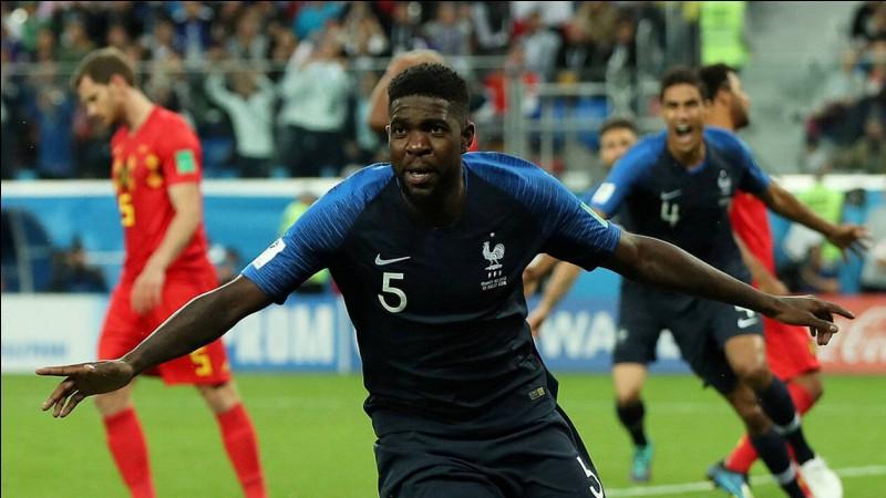 Numéro 5 : J'ai cassé la démarche après avoir mis une tête face à l'équipe de Belgique lors de la Coupe du Monde 2018 en demi-finale. Je suis...