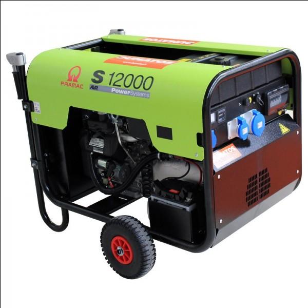 Cette chose alimente certains équipements nécessitant l'utilisation de l'électricité. C'est...