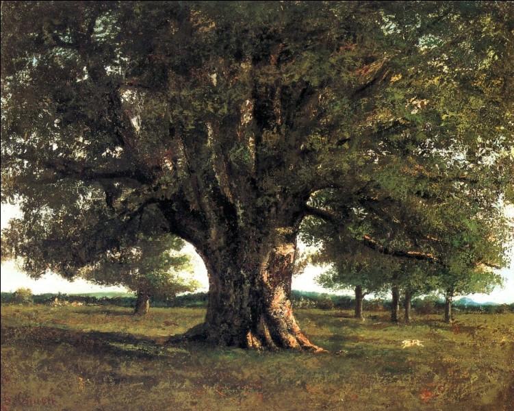 """Quel peintre réaliste français est l'auteur du tableau """"Le chêne de Flagey"""" ?"""