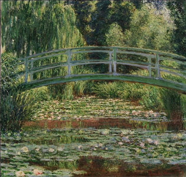 """Qui a réalisé le tableau """"Le bassin aux nymphéas, Pont japonais"""" ?"""