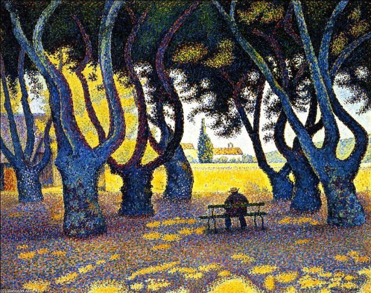 """Qui a réalisé l'œuvre pointilliste """"Place des Lices, Saint-Tropez"""" ?"""