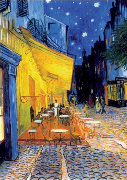 """""""Terrasse du café, le soir"""" est l'œuvre de ..."""