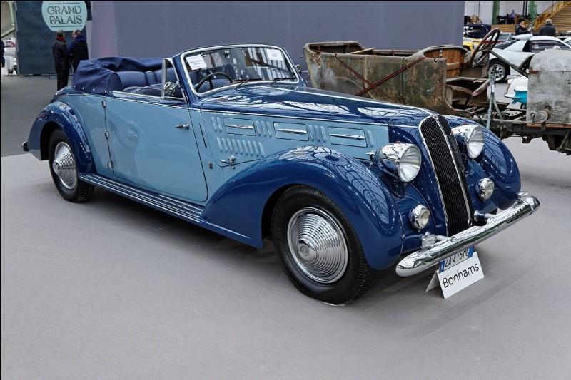Poursuivons par une belle italienne venue de Turin. Cette voiture a été produite entre les deux Guerres mondiales. Quelle est cette voiture ?
