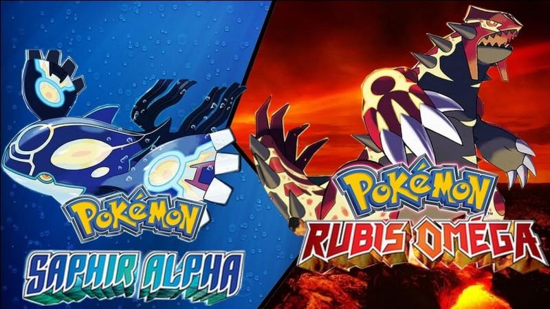 En 2014, deux nouveaux jeux Pokémon se déroulent à Hoenn. Ils appartiennent à quelle génération ?