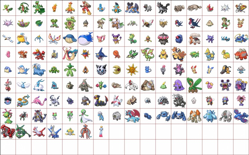 Quel Pokémon n'est pas un Pokémon de la troisième génération ?