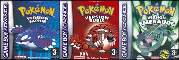 Pokémon versions Rubis/Saphir/Émeraude