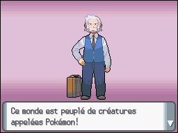 Quel est le nom du professeur qui donne le Pokémon de départ ?