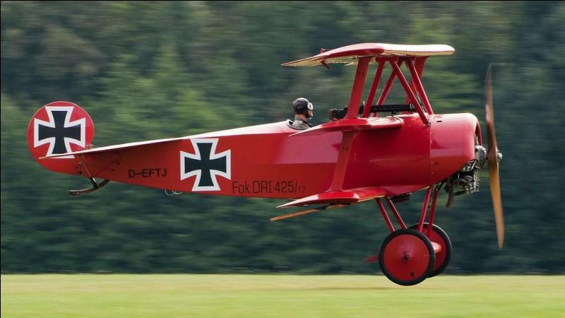 Quel est le surnom de cet aviateur allemand, héros de la Première Guerre mondiale ?