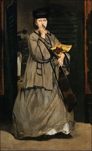 """Quel peintre impressionniste a représenté """"La Chanteuse de rue"""" ?"""