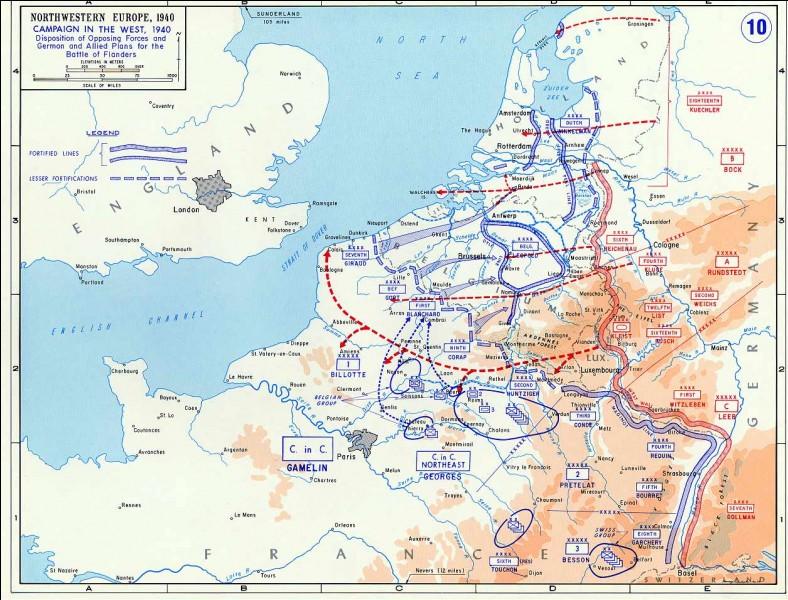 Si l'on compare les forces franco-britanniques aux forces allemandes, qu'est-ce qui est vrai ?