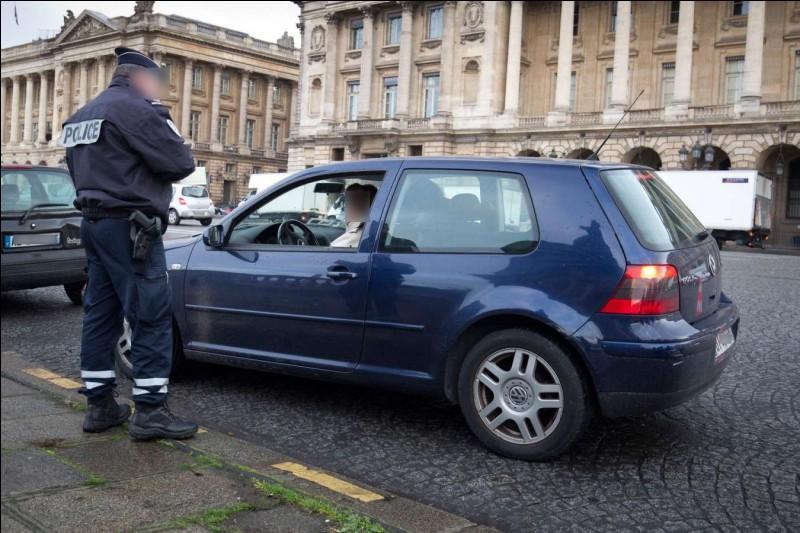 Lors d'un contrôle routier, un policier te met un procès verbal pour avoir circulé à 55 km/h au lieu de 50 km/h. Quel est ton niveau de colère ?