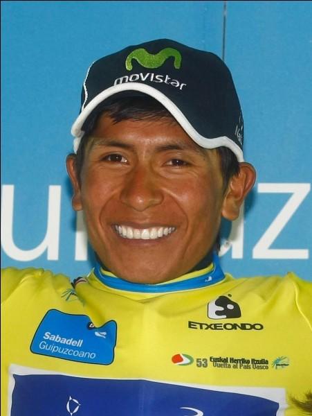 De quelle nationalité le coureur cycliste Nairo Quintana est-il ?