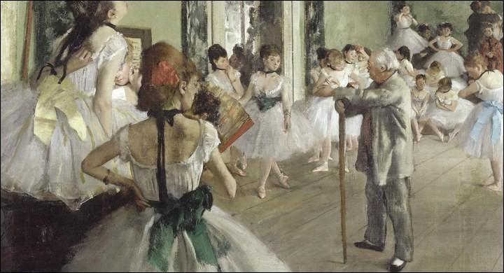 """Le peintre, auteur de ce tableau """"La classe de danse"""", se prénomme ..."""