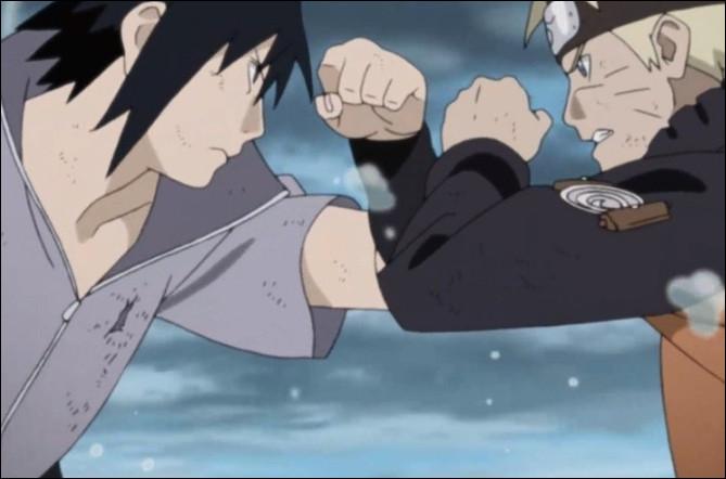 Qu'arrive-t-il à Naruto en combattant Sasuke ?