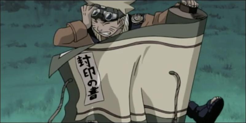 Qui demande à Naruto de voler un parchemin sacré ?