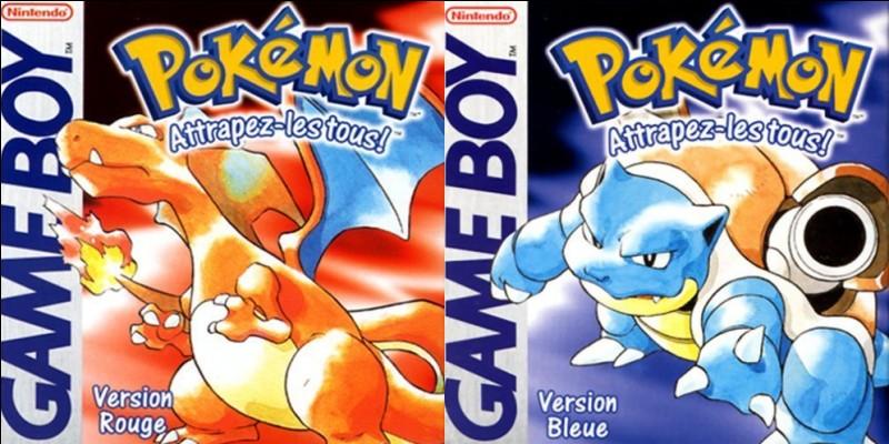 """Combien de Pokémon sont disponibles par version de jeu, dans """"Pokémon Rouge et Bleu """"?"""