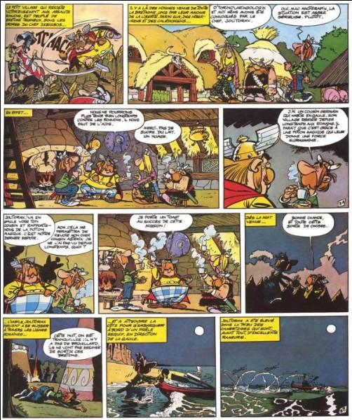 Année : 1966Lieux d'action : Camulodunum, Durovernum Personnages : Zebigbos, O'Torinolaringologix , MacAnotérapix...Ça peut aider : on y rencontre le cousin d'Astérix Quel est cet album ?