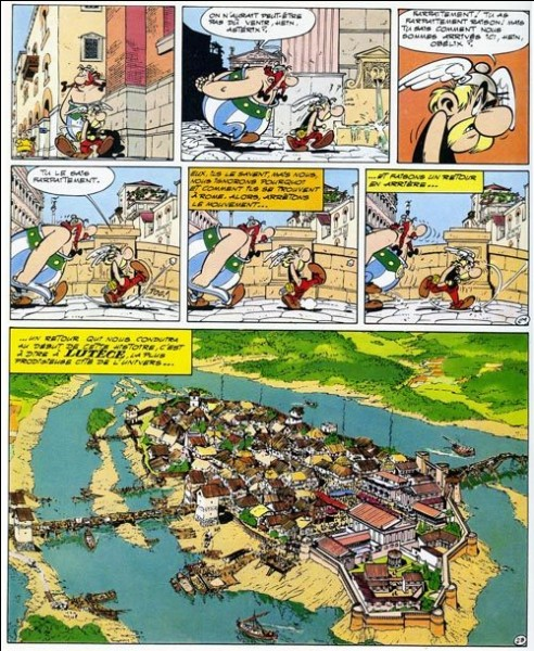 Année : 1972Lieux d'action : Lutèce, Rome Personnages : Homéopatix, Garedefréjus, Machin...Ça peut aider : on y rencontre le beau-frère d'Abraracourcix.Quel est cet album ?