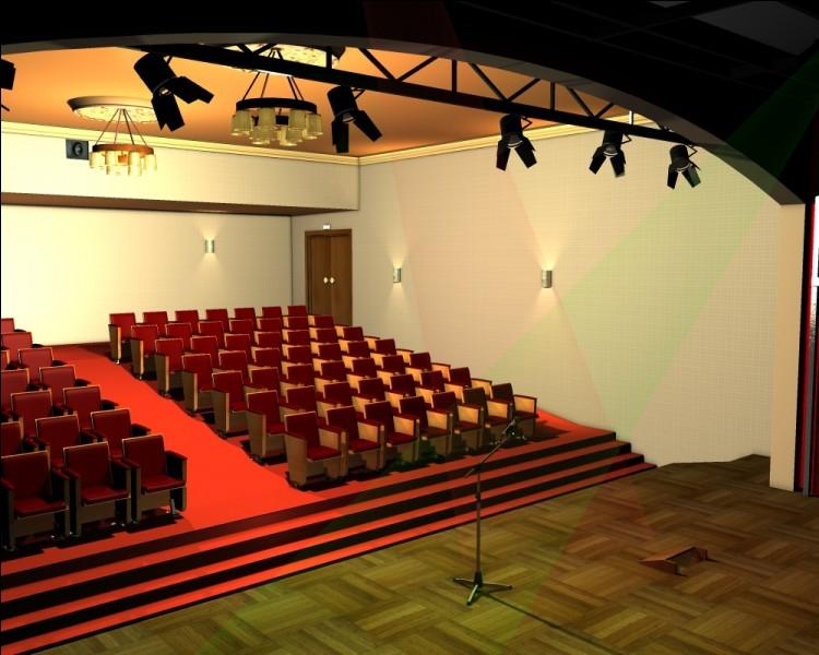 Ici, certains d'entre eux ont créé une histoire, en jouant des personnages de fiction. Comment se nomme cette salle ?